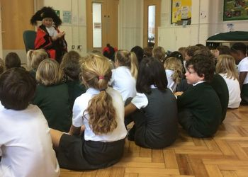 The Lord Mayor of Bristol, Lesley Alexander, spends an afternoon with pupils at Fairlawn School