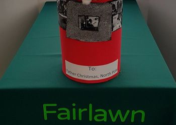 Fairlawn decorates a Post Box for letters to Santa